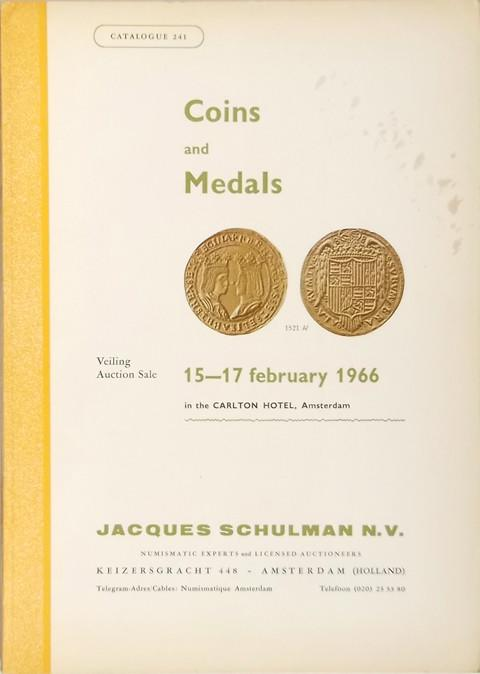 15 Feb 1966  Jacques Schulman, Amsterdam.  Sale no. 241.