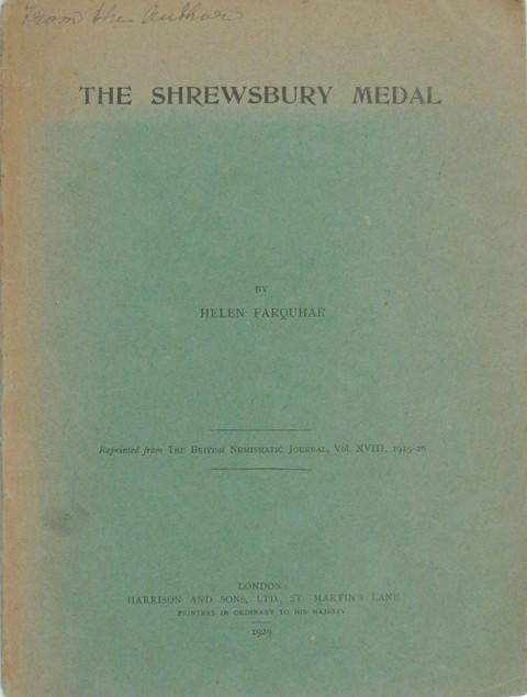 The Shrewsbury Medal. A Note upon Military Medals of the Mid-Seventeenth Century.