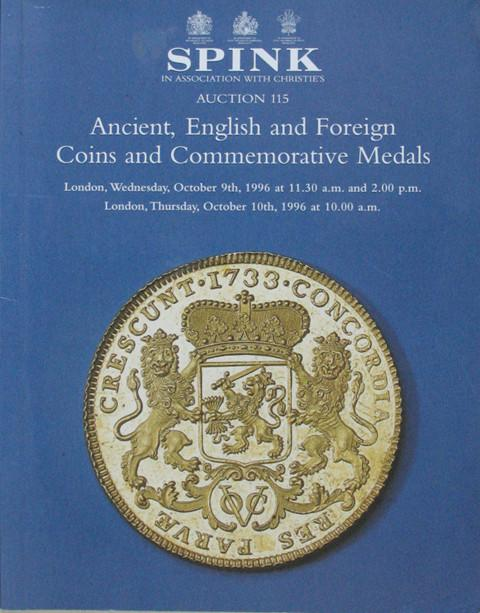 Spink 115.  Ancient, English and Foreign Coins and Medals.