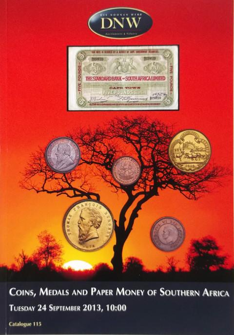 24 Sep, 2013.  DNW 115.  Coins Medals and Paper money of Southern Africa.