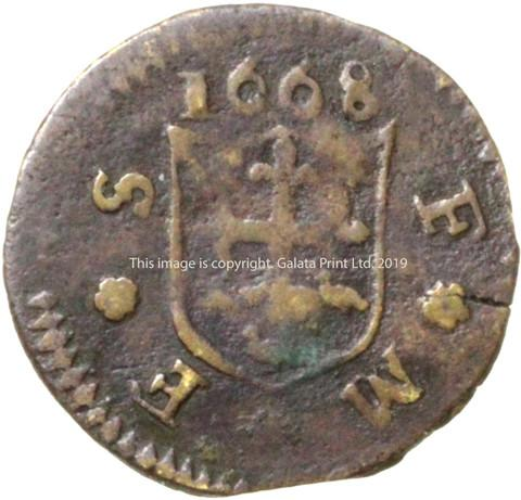 GUILDFORD, Surrey. Town issue farthing.