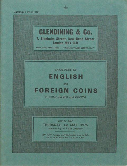 1 May, 1975  English and foreign coins.