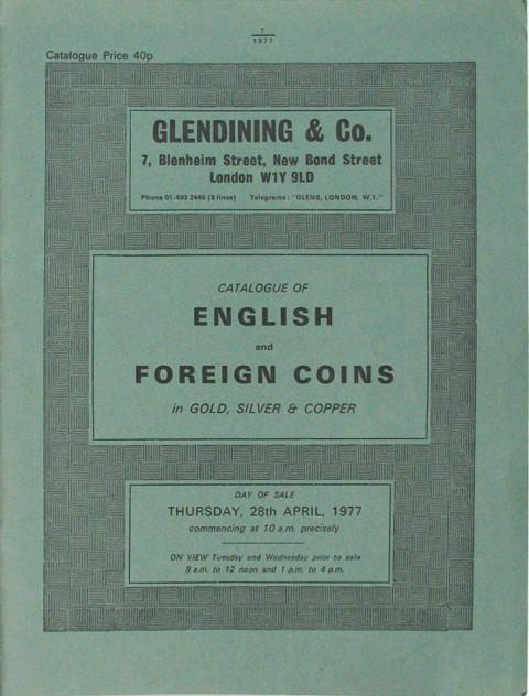 28 Apr, 1977  English and Foreign coins.