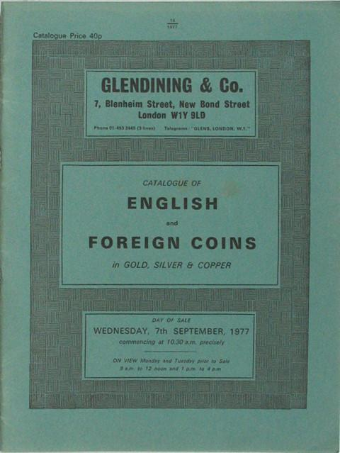 7 Sep, 1977  English and Foreign coins.
