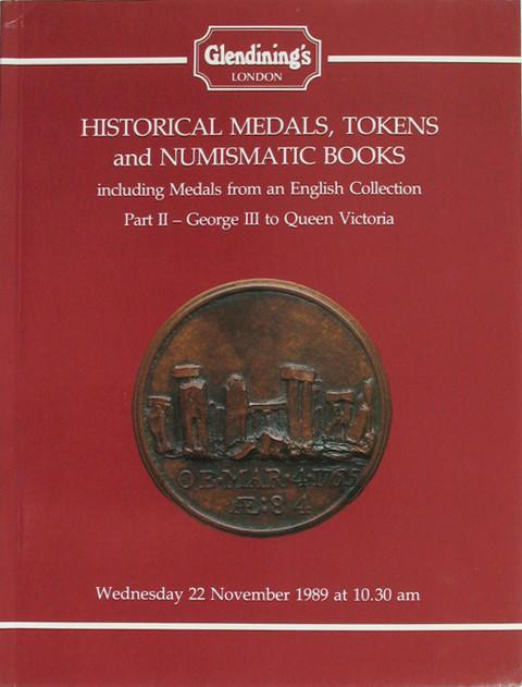 22 Nov, 1989.  Historical Medals part 2. George III to Queen Victoria.