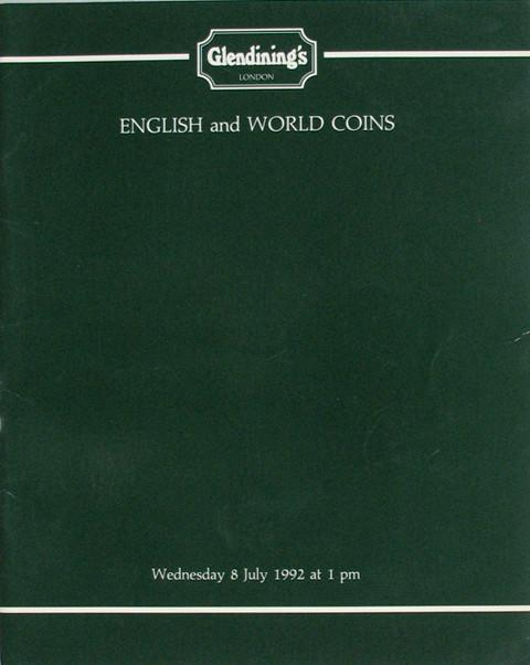 8 Jul, 1992  English and world coins.