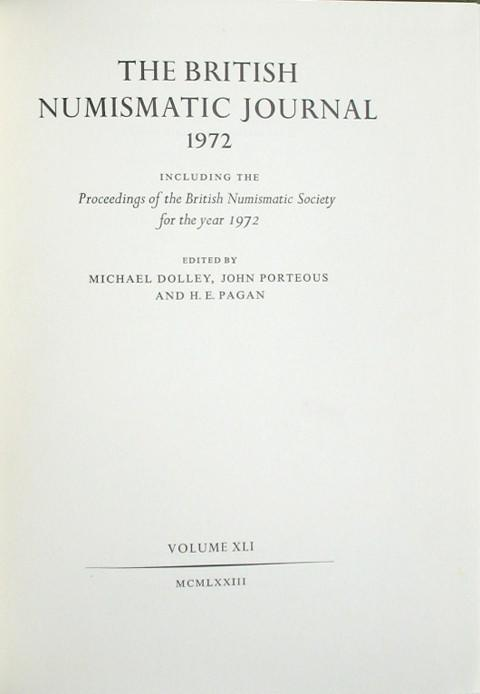 British Numismatic Journal 1972