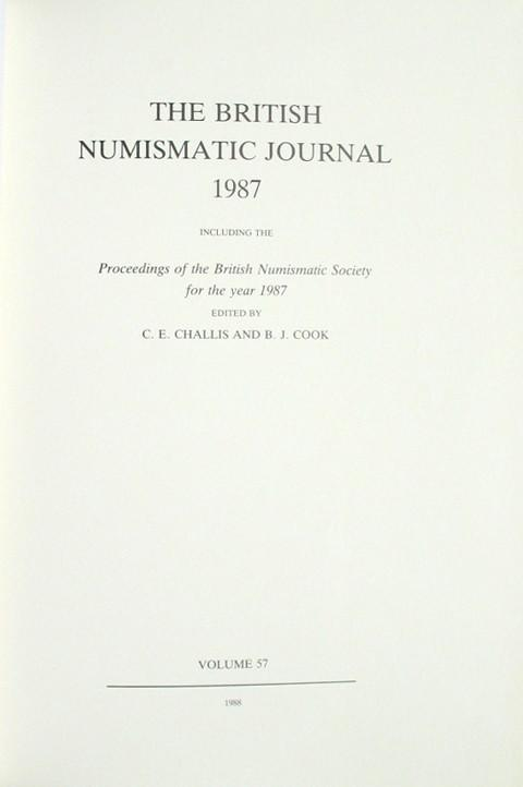 British Numismatic Journal 1987