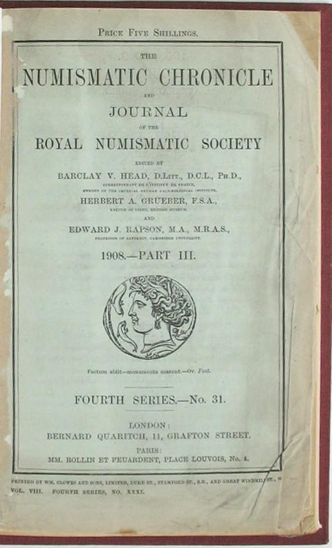 The Numismatic Chronicle 1908. Part 3