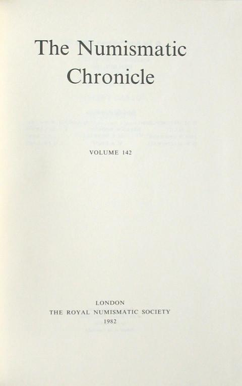 The Numismatic Chronicle 1982