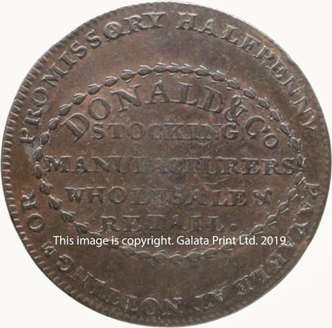 NOTTINGHAM, Donald & Co. Halfpenny token 1792.