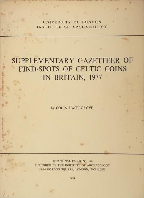 Supplementary Gazetteer of Find-Spots of Celtic Coins in Britain, 1977.