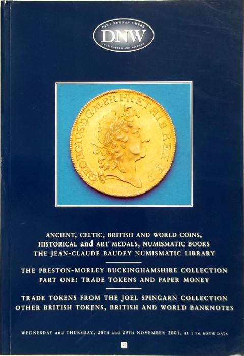 28 Nov 2001  DNW 52.   Ancient, Celtic, British and World coins, tokens, medals, books, etc.