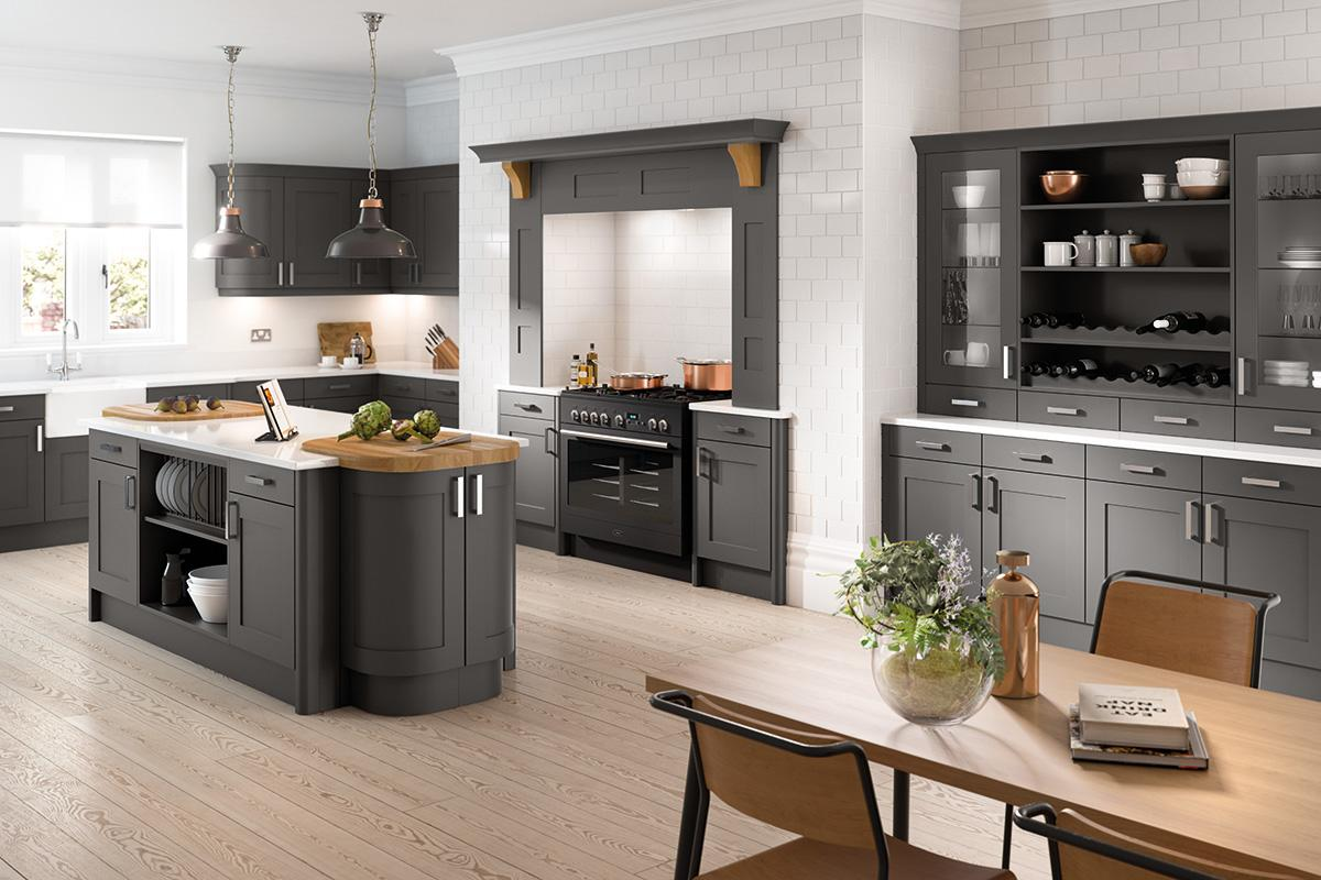 Shaker Kitchen Dark Grey Charcoal Anthracite