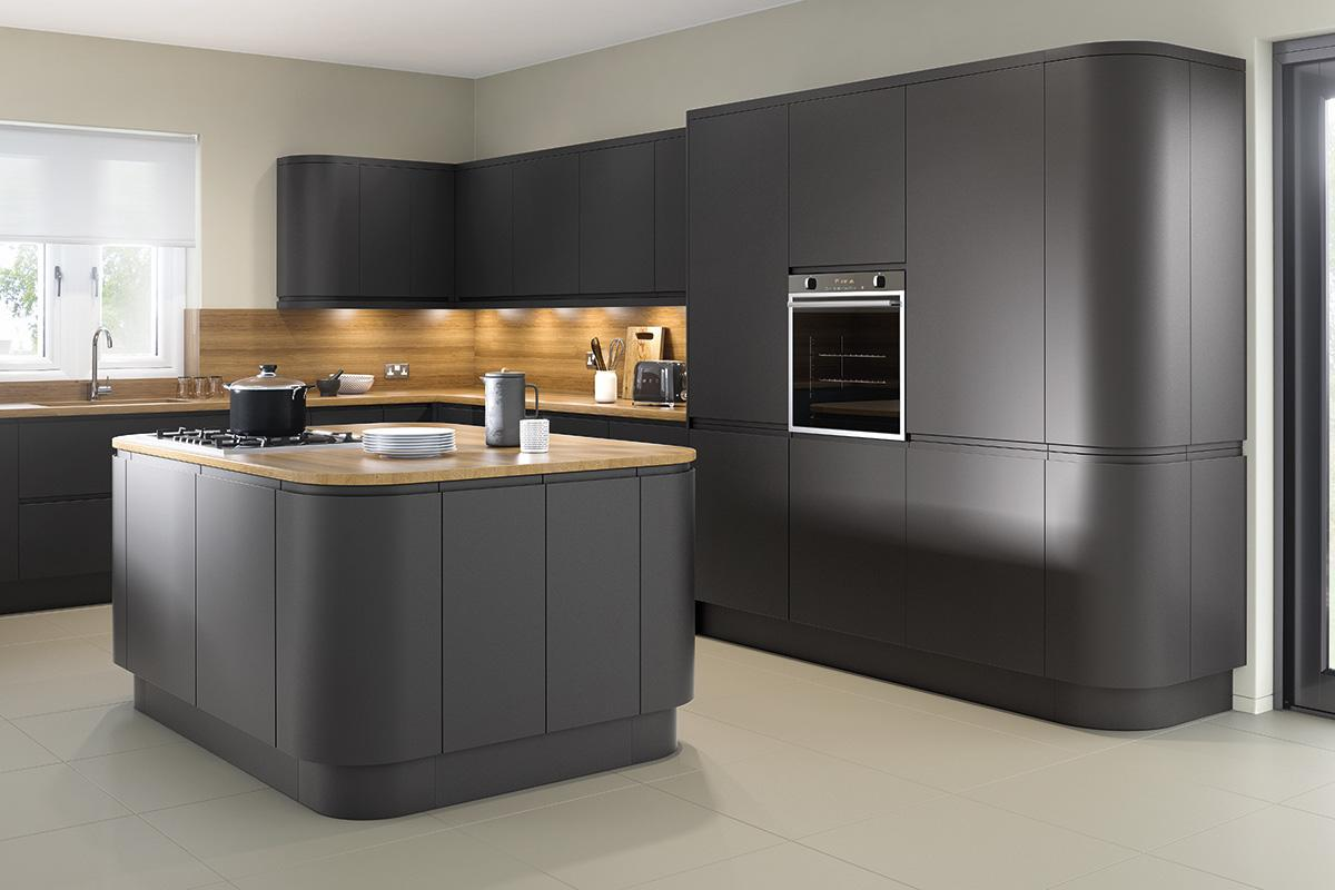 Bibury Matt Anthracite Replacement Kitchen Doors from Doorbox