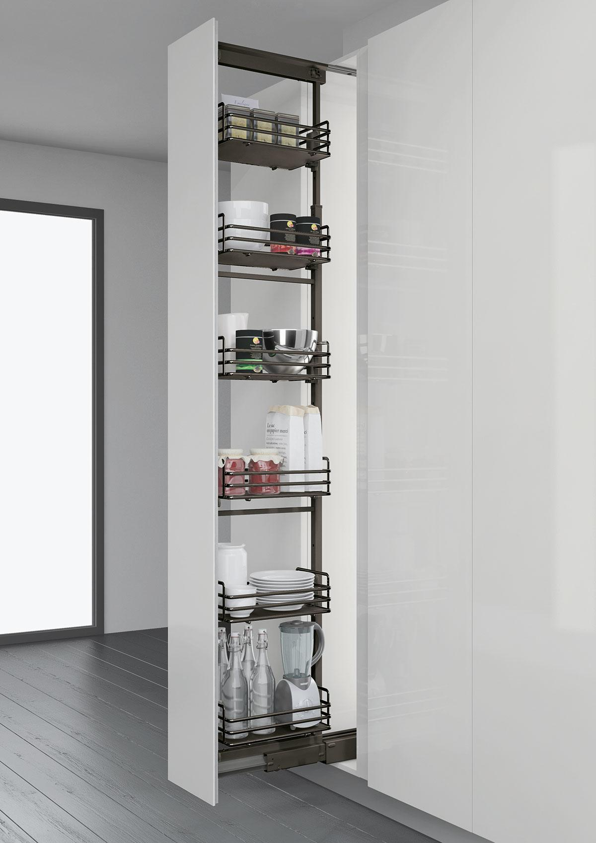 Elite Tall Larder Pull Out - 300mm (Anthracite)