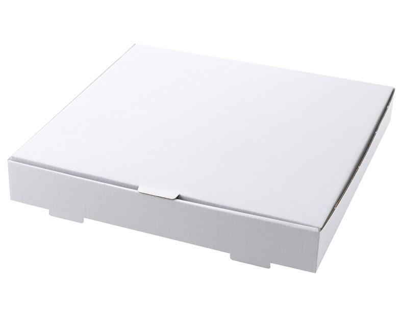 "9"" White Pizza Box Compostable Recyclable"
