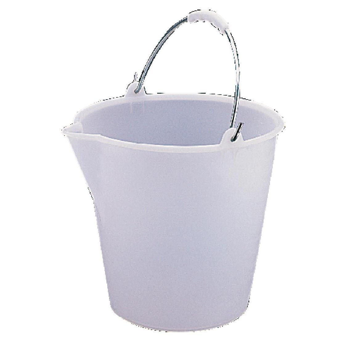 Jantex Heavy Duty Plastic Bucket White 12Ltr