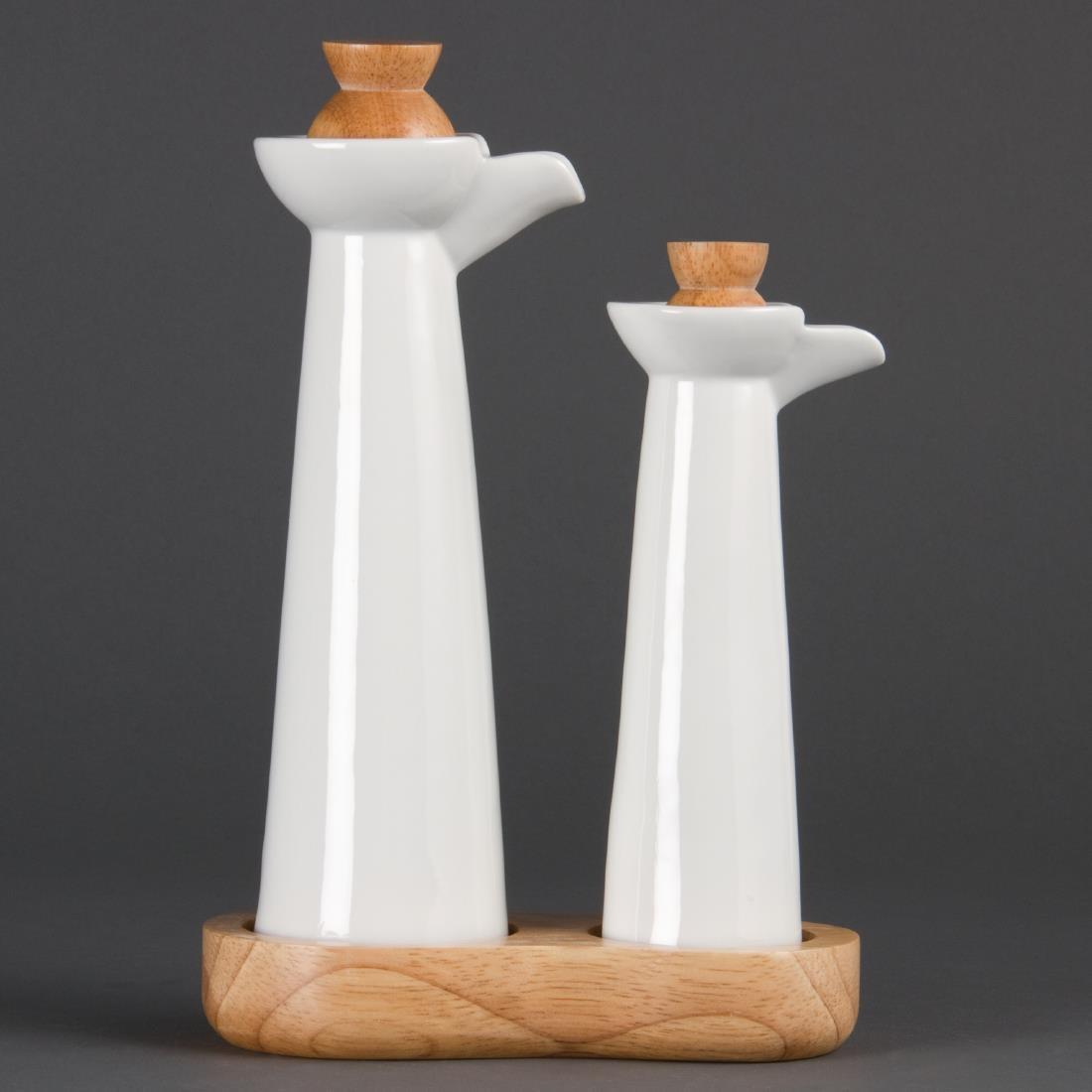 Olympia Whiteware Vinegar and Oil Set
