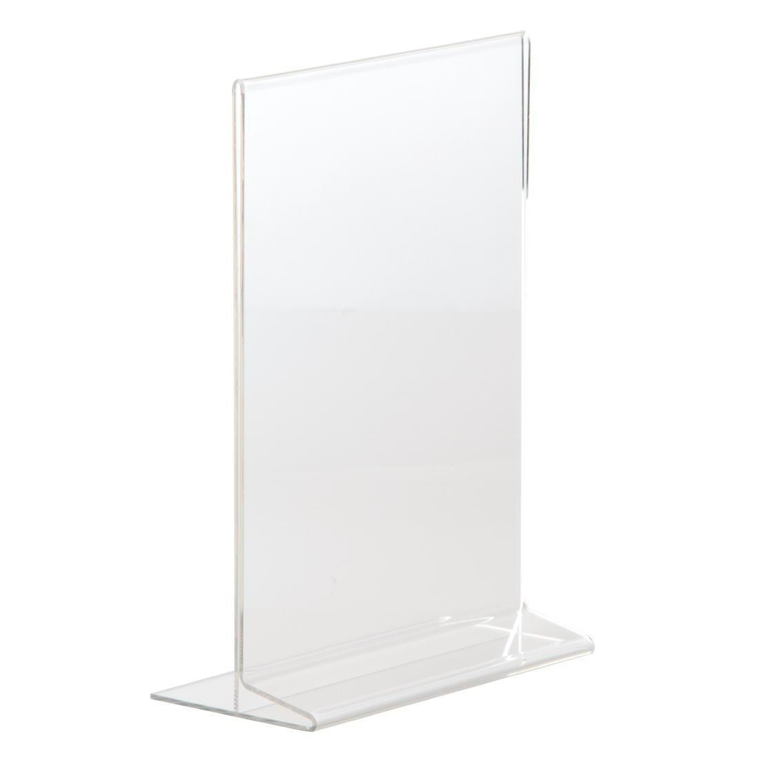 Upright Acrylic Menu Holder A5