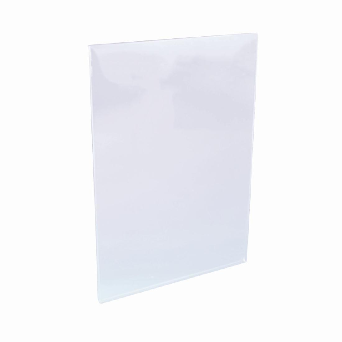 Clear Acrylic Menu Holder Sleeve A5