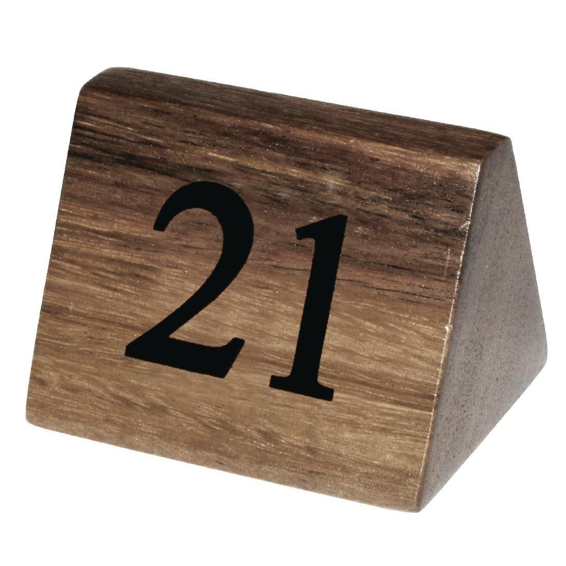 Wooden Table Number Signs Numbers 21-30
