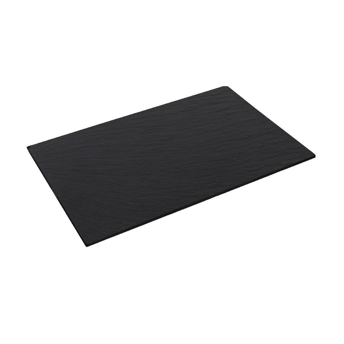 Olympia Smooth Edged Slate Platters 280 x 180mm