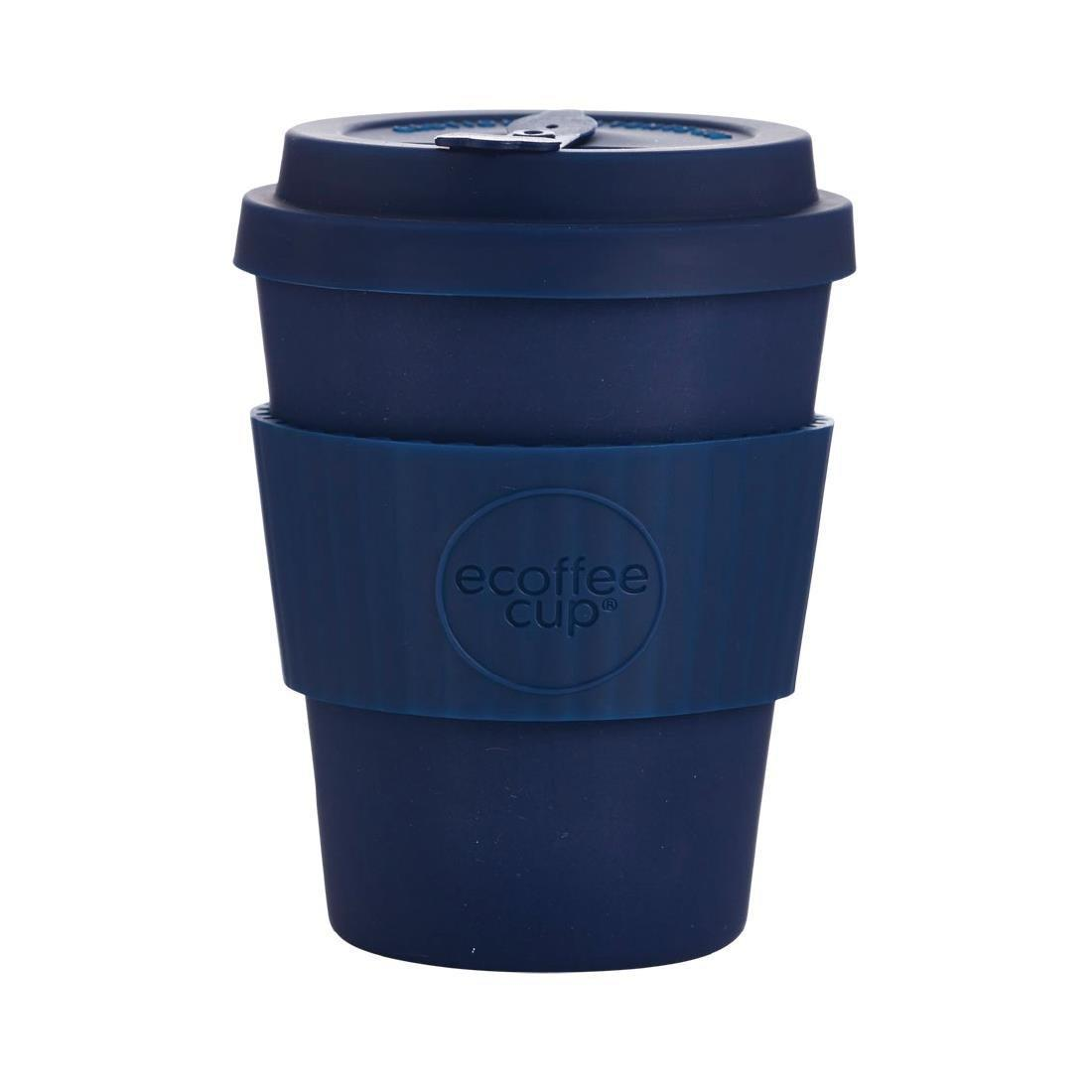 Ecoffee Cup Bamboo Reusable Coffee Cup Dark Energy Navy 12oz - Each - DY491
