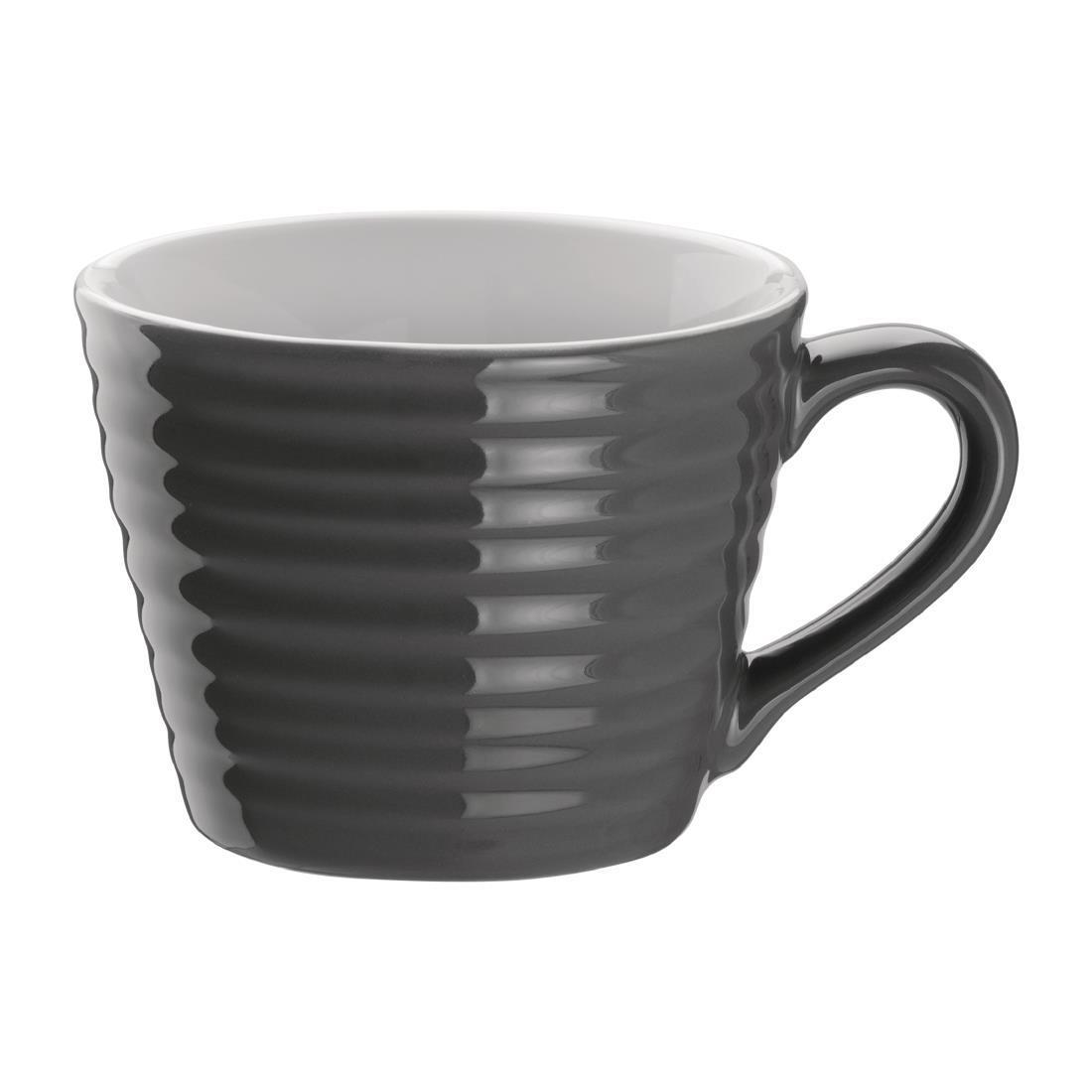 Olympia Caf?? Aroma Mugs Charcoal 230ml