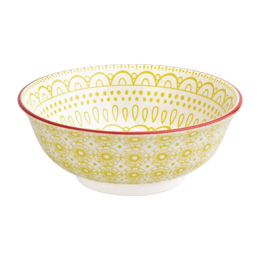 Olympia Fresca Large Bowls Yellow 205mm