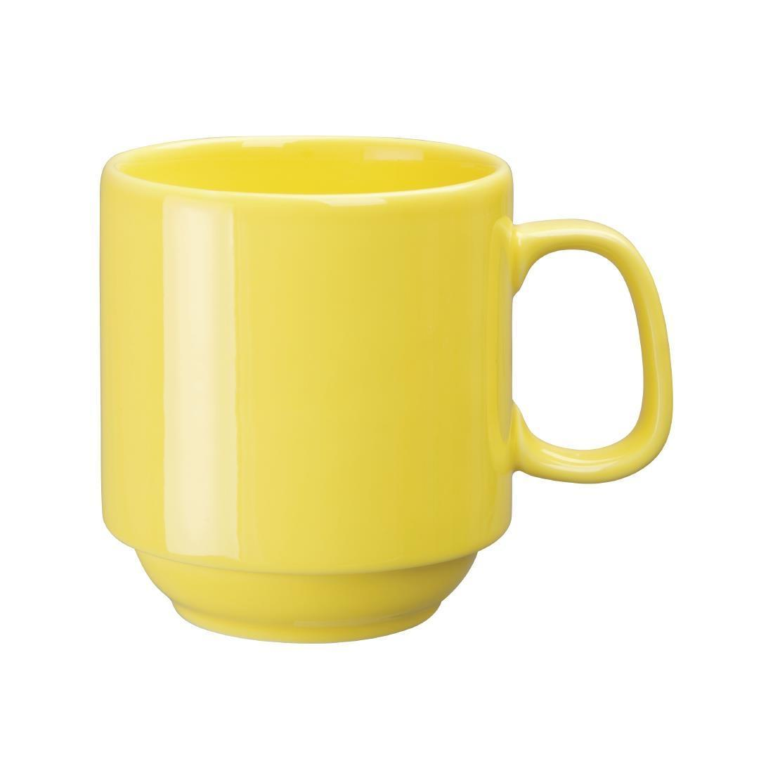 Olympia Heritage Stacking Mugs Yellow 300ml