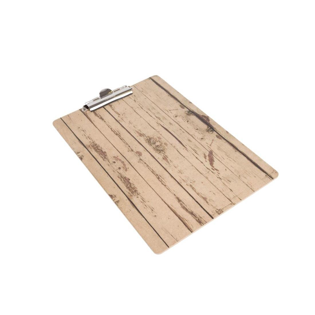 Olympia Wood Effect Menu Clipboard A5