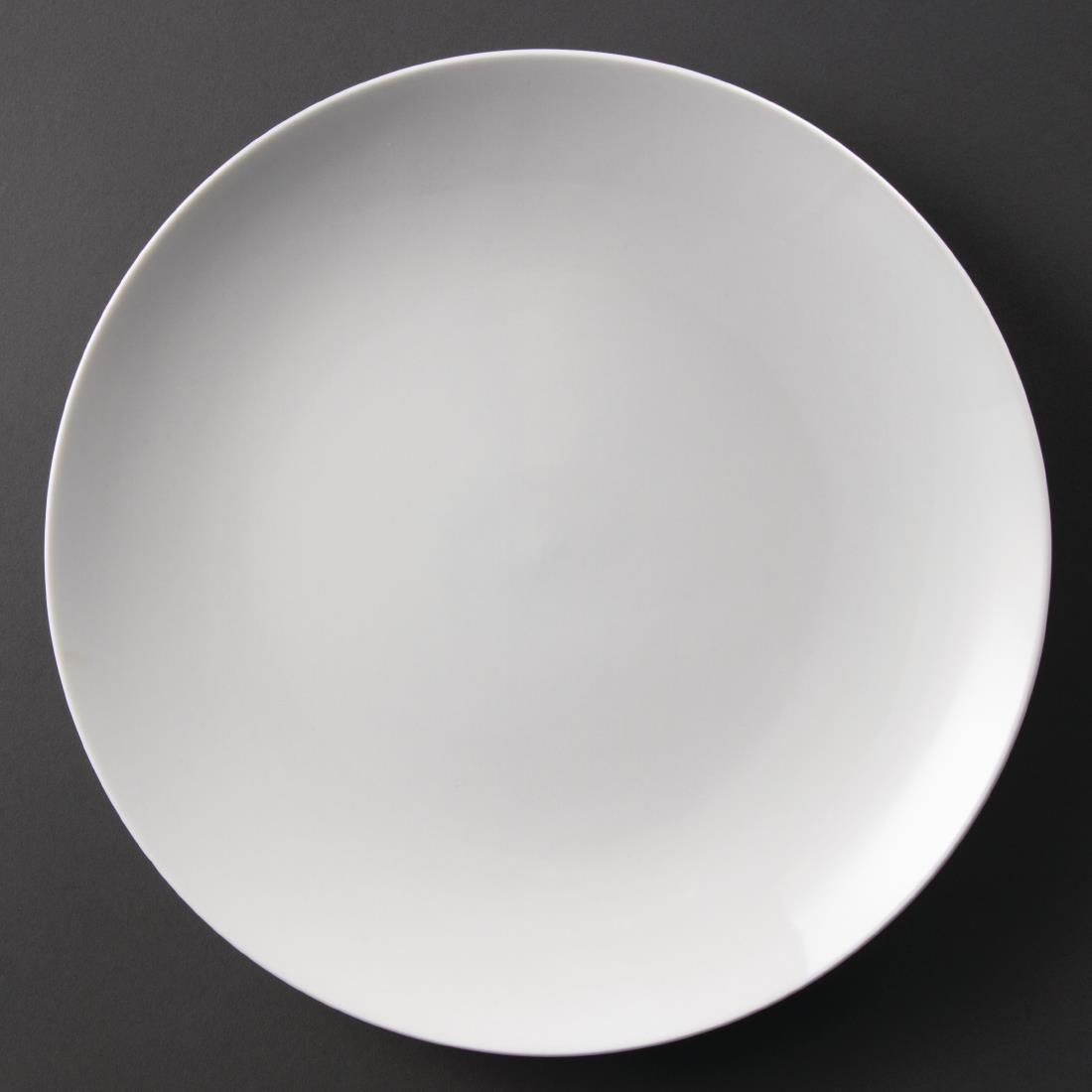 Olympia Whiteware Coupe Plates 310mm