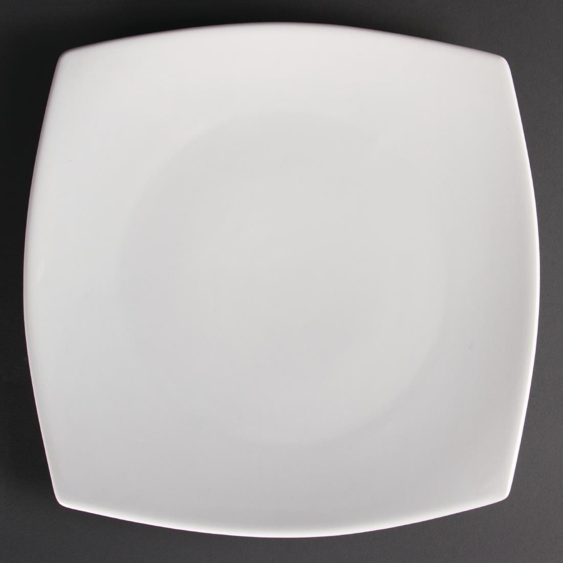 Olympia Whiteware Rounded Square Plates 305mm