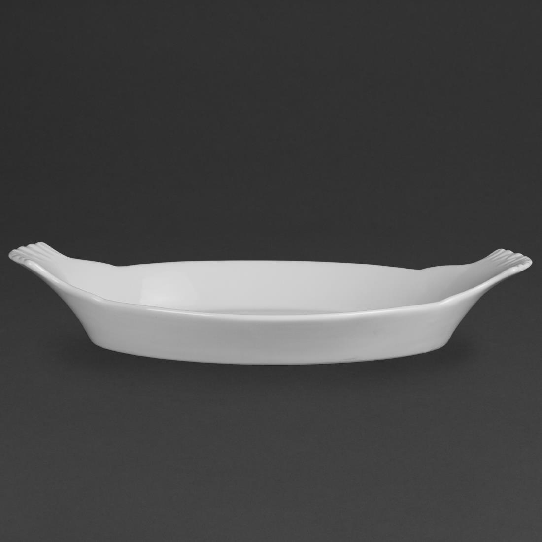 Olympia Whiteware Oval Eared Dishes 360x 199mm