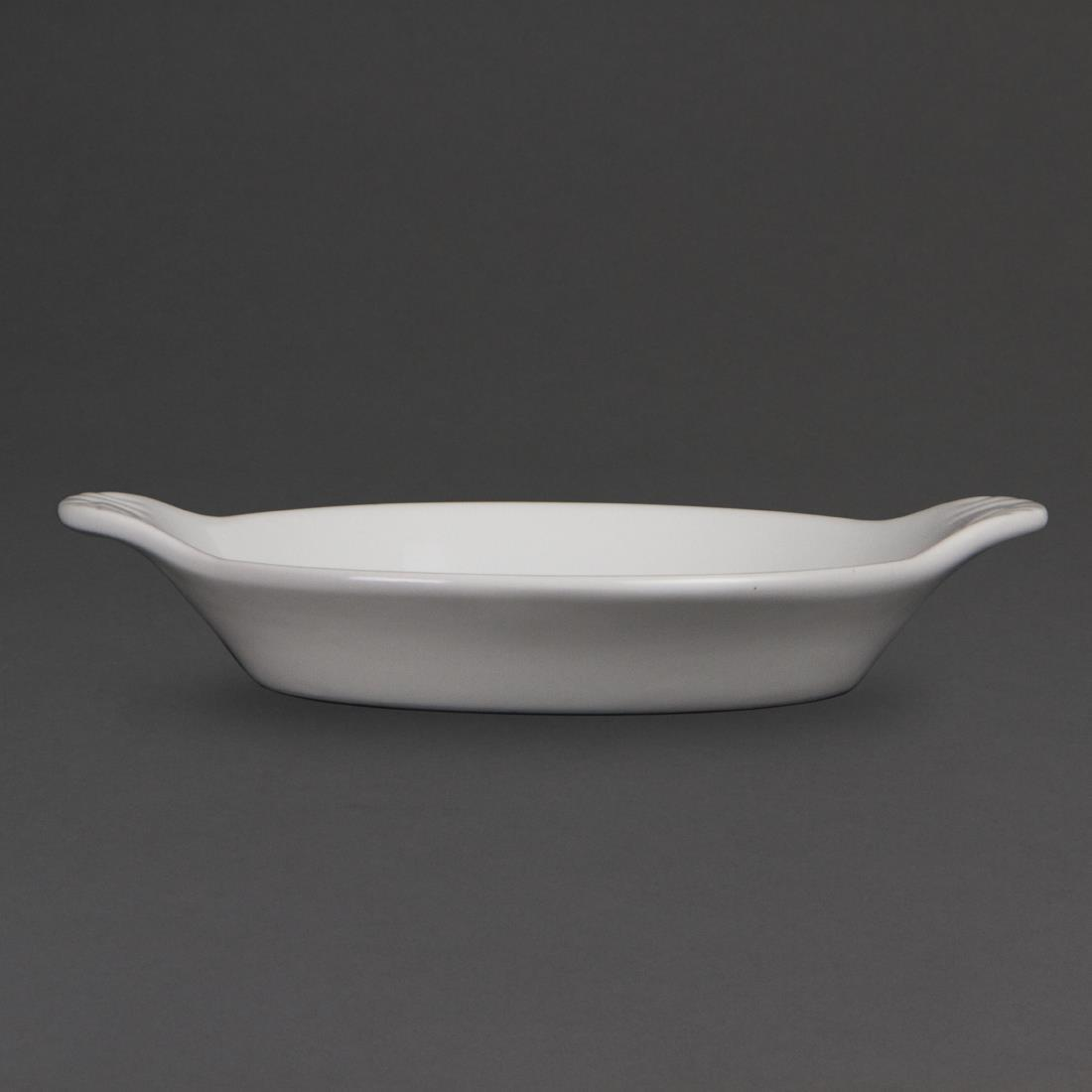 Olympia Whiteware Round Eared Dishes 170 x 140mm