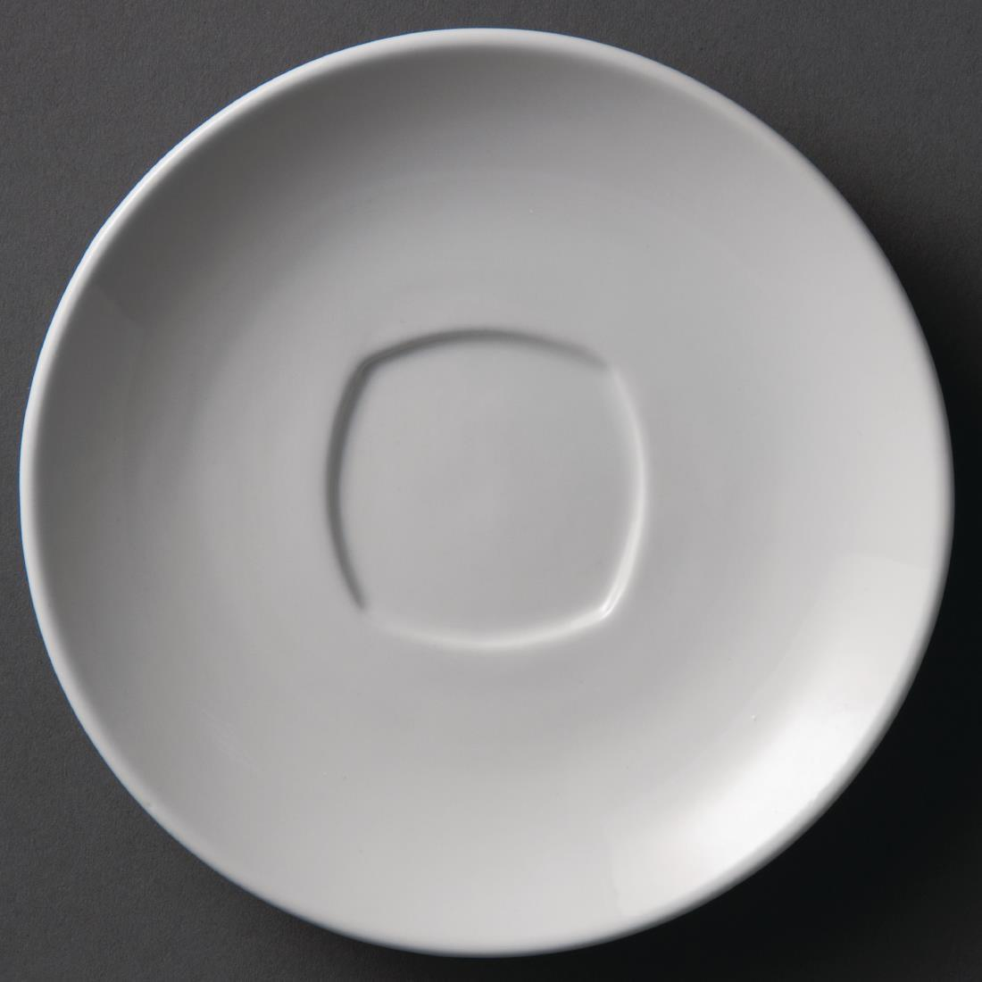 Olympia Whiteware Rounded Square Saucers 150mm