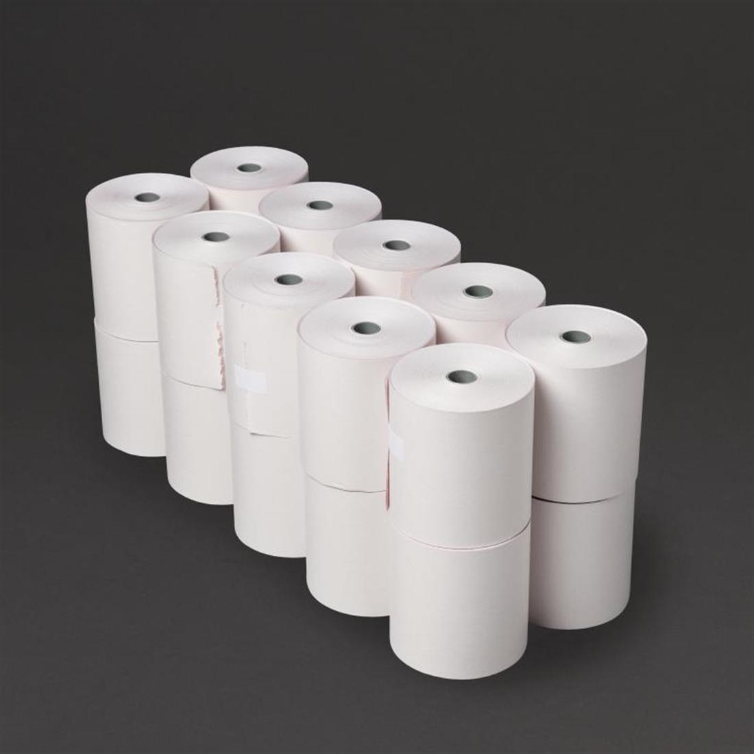 Fiesta Non-thermal 2ply White and Pink Till Roll 76mm x 70mm