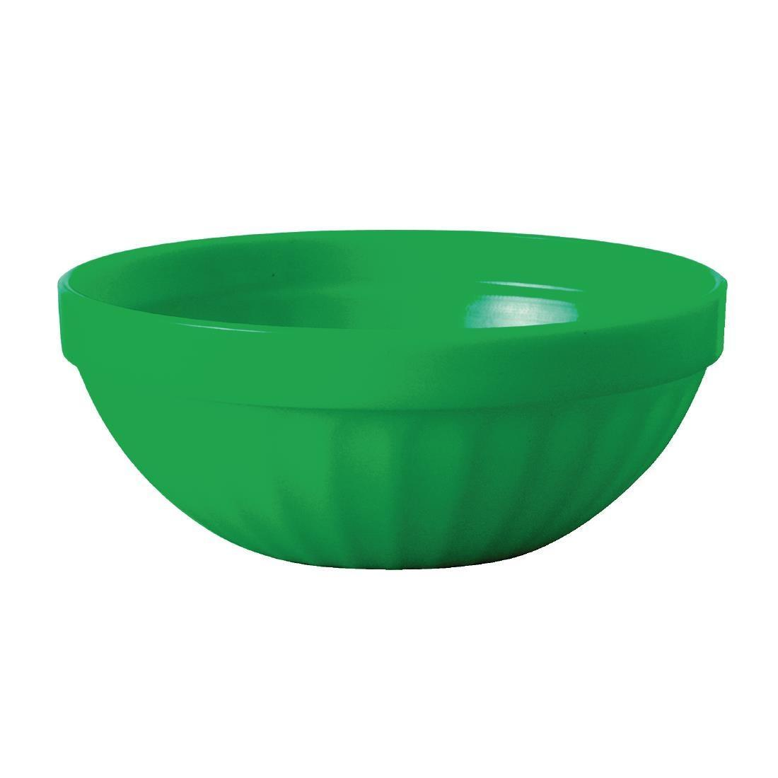 Kristallon Polycarbonate Bowls Green 102mm - Case 12 - CE275