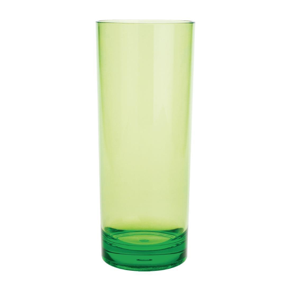 Kristallon Polycarbonate Hi Ball Glasses Green 360ml - Case 6 - DC926