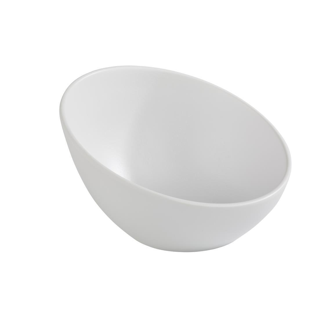 APS Zen Melamine Round Sloped Bowl White 300ml - Each - CN075