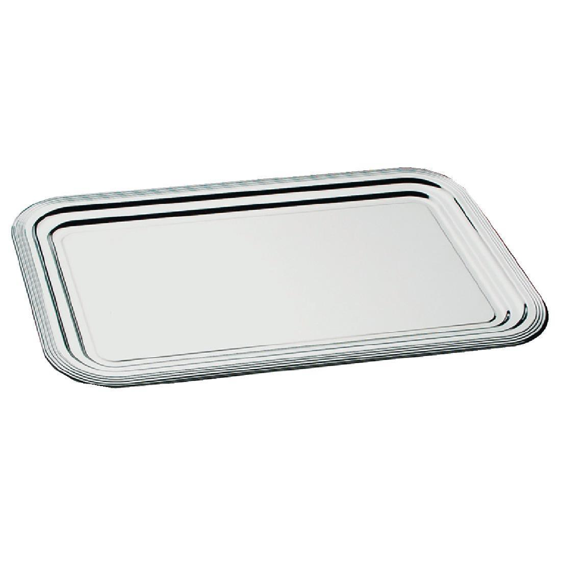 APS Semi-Disposable Party Tray GN 1/1 Chrome - Each - F764