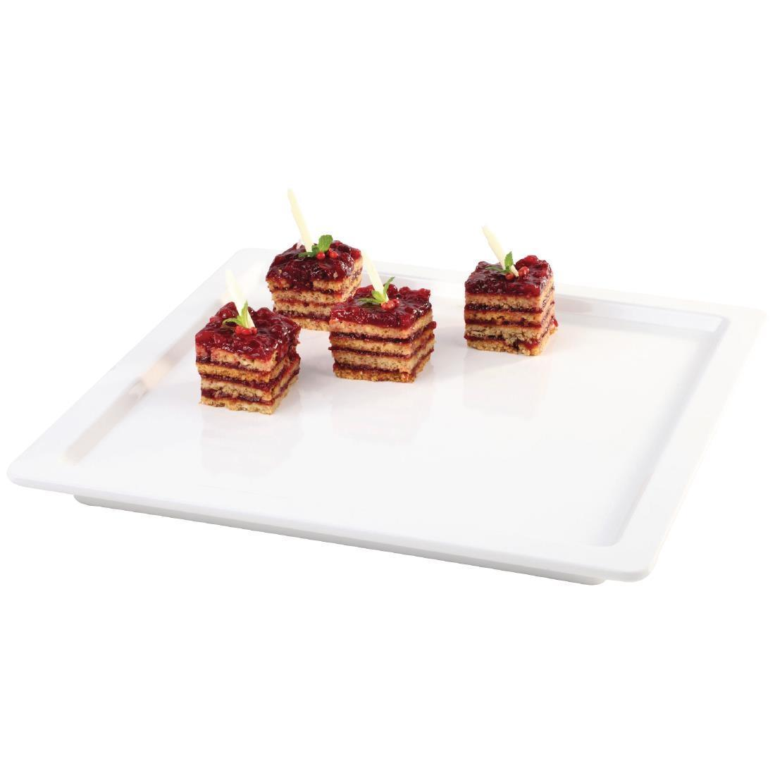 APS Apart Melamine Square Tray White 230mm - Each - GD102