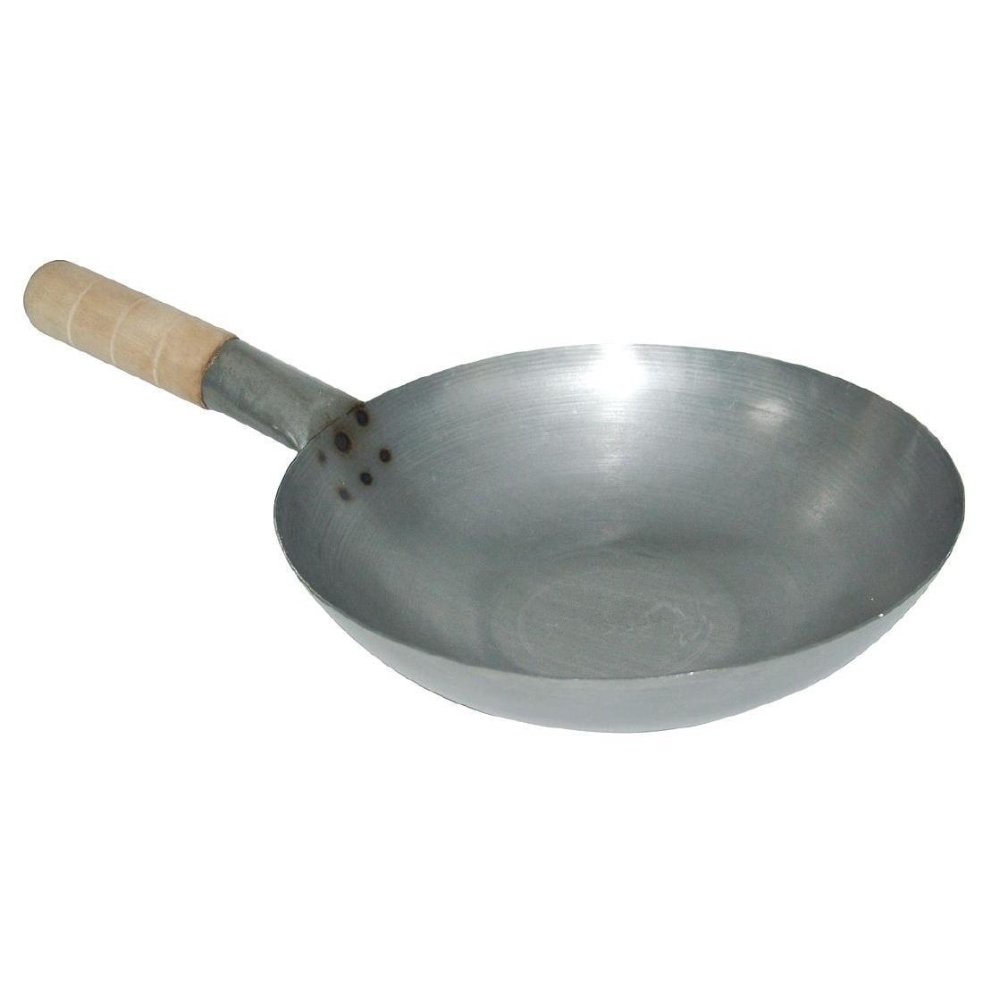 Vogue Mild Steel Wok Flat Base 330mm - Each - K296