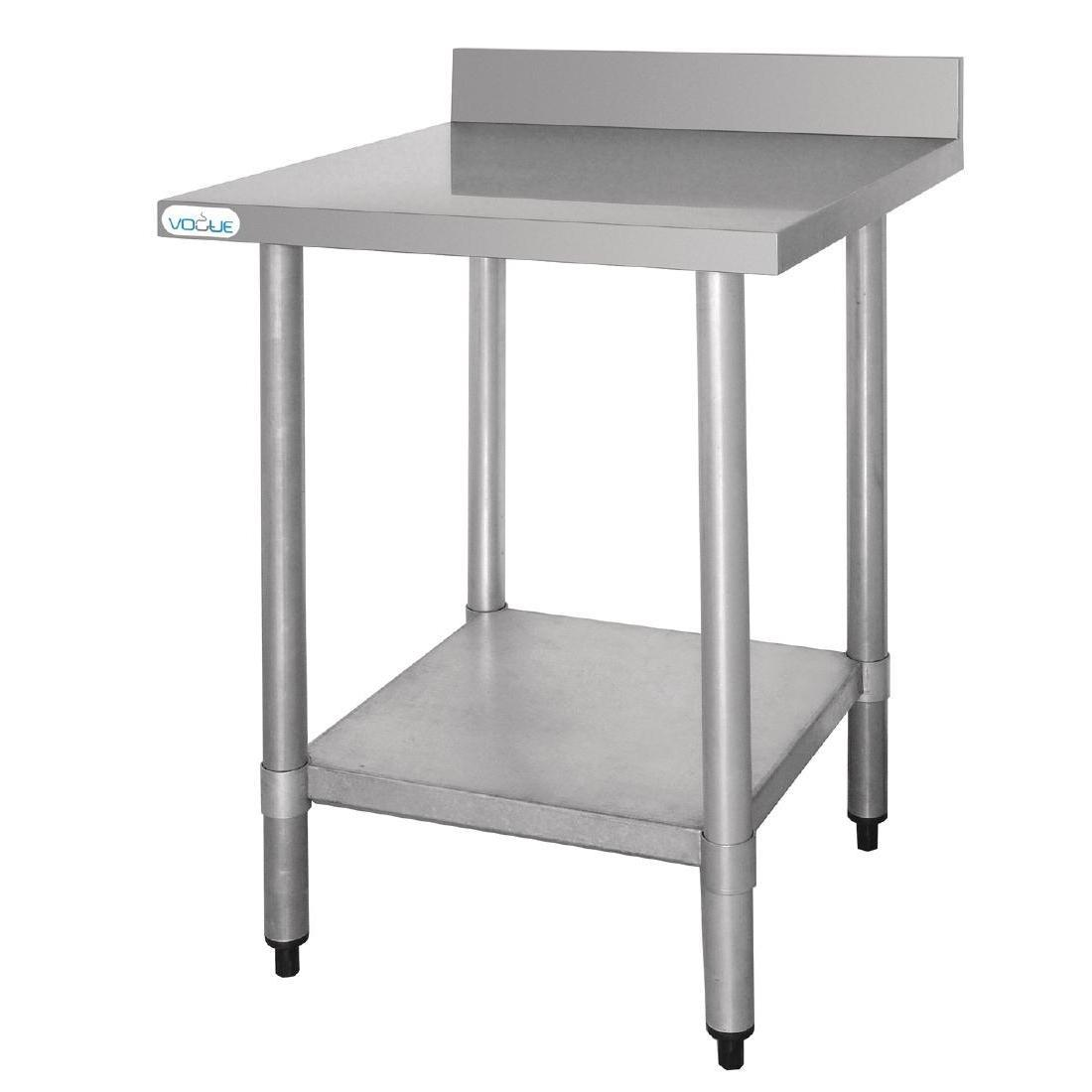 Vogue Stainless Steel Prep Table with Upstand 900mm - T380