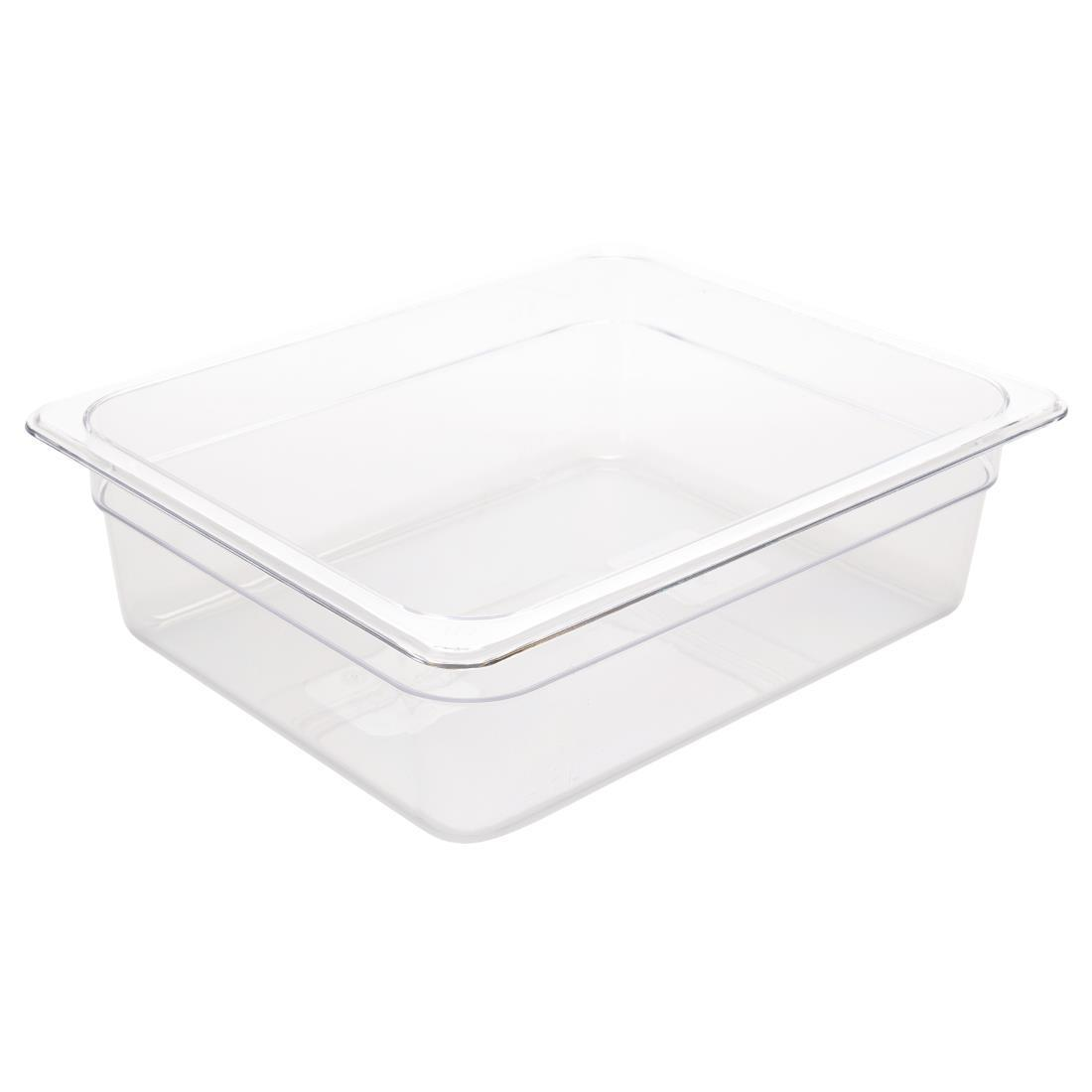 Vogue Polycarbonate 1/2 Gastronorm Container 100mm Clear - U229