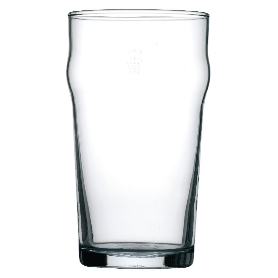 Nonic Toughened Beer Glass - 570ml 20oz 1pint CE (Box 48) - S053