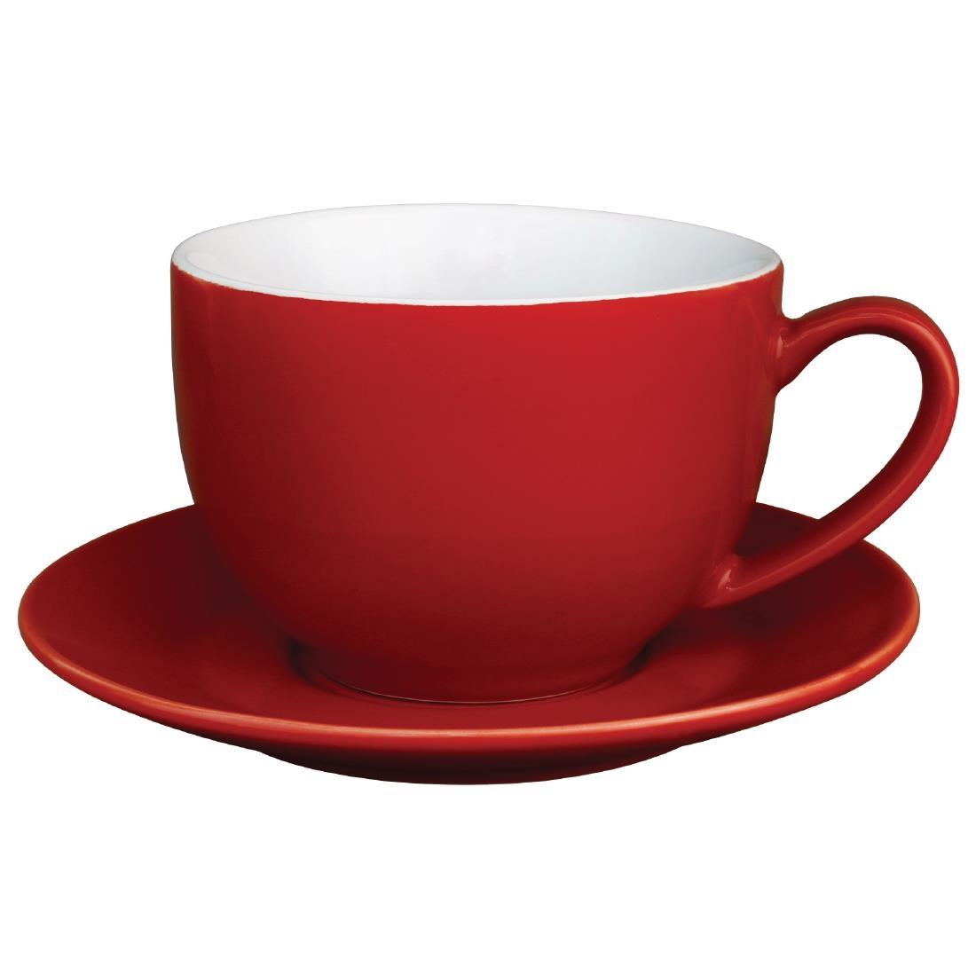 Olympia Cafe Cappuccino Cups Red 340ml