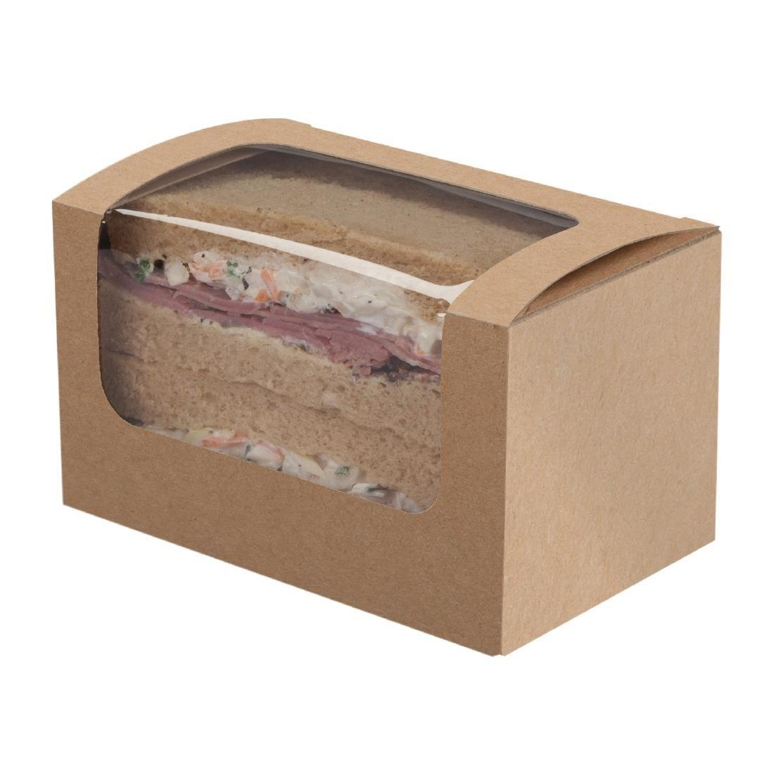 Colpac Compostable Kraft Sandwich Packs With PLA Window