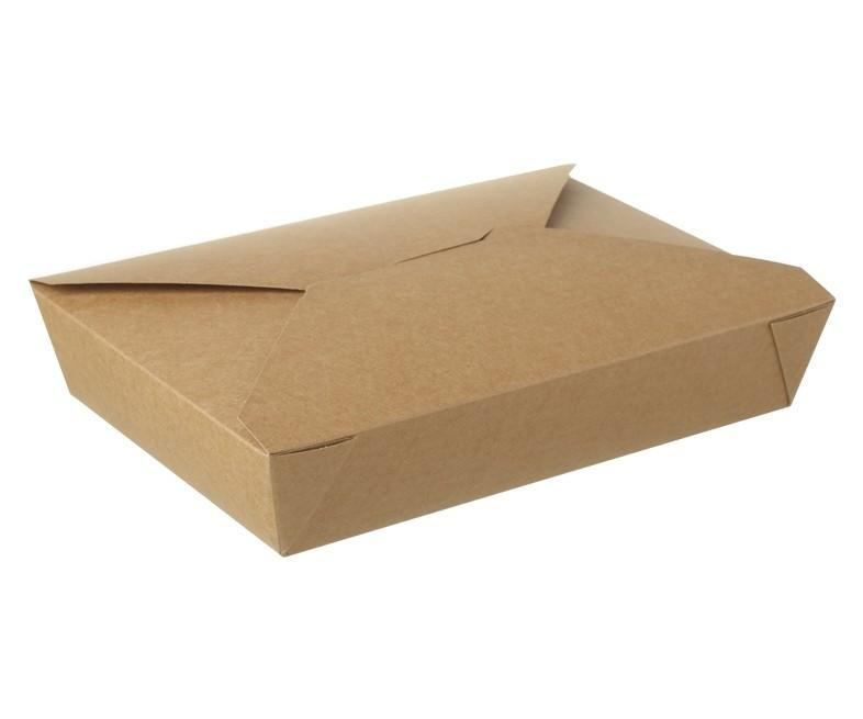 Kraft Hot Food Box Compostable #2 - 1300ml